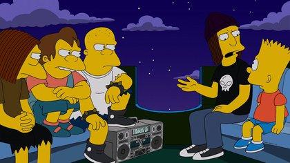 Peterson hace una defensa controversial de Nelson, el bully de Los Simpsons.
