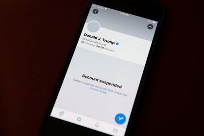 Twitter suspendió la cuenta personal de Donald Trump (Foto: Bloomberg)
