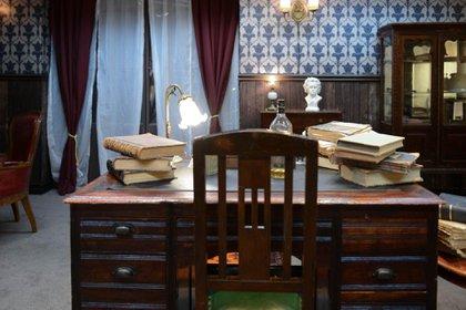 El despacho de Holmes y Watson en Baker Street