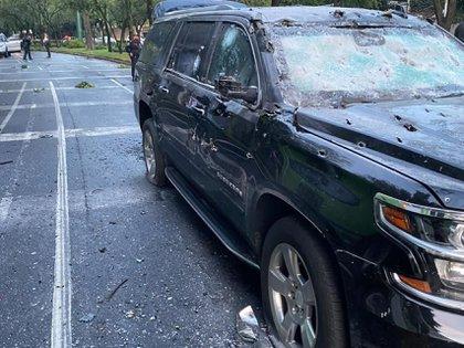 Así quedó la camioneta donde viajaba Omar García Harfuch tras el atentado (Foto: Cuartoscuro)