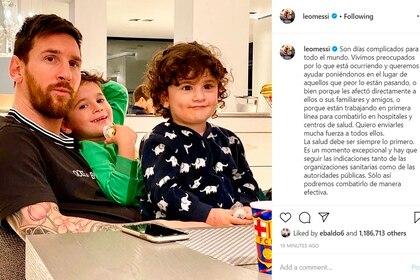 Lionel Messi publicó un mensaje días atrás por la situación social que atraviesa el mundo