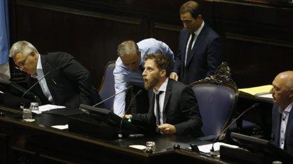 El presidente de la Cámara de Diputados, Federico Otermin (Santiago Salva)