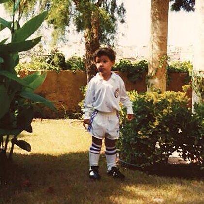 La foto de Rafa Nadal durante su infancia con la camiseta del Real Madrid