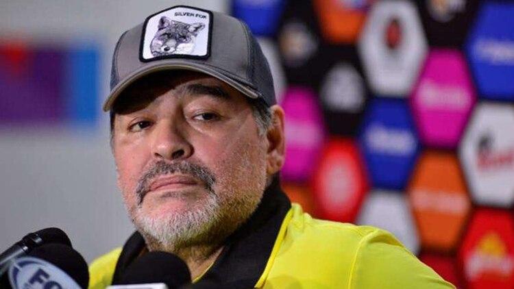 Diego Armando Maradona también se refirió al retiro de Rodrigo Mora (Foto: EFE)