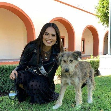 Andrea es vegana y amante de los animales. A través de su cuenta de Instagram contó que en casa tiene una gata a la que rescataron de la calle. A pesar de su alergia a estas mascotas, convive con ella y le encanta abrazarla (Foto: Instagram @andreamezamx)