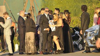 Jorge Rial y su hija Morena con Francesco (Foto Teleshow/Verónica Guerman)