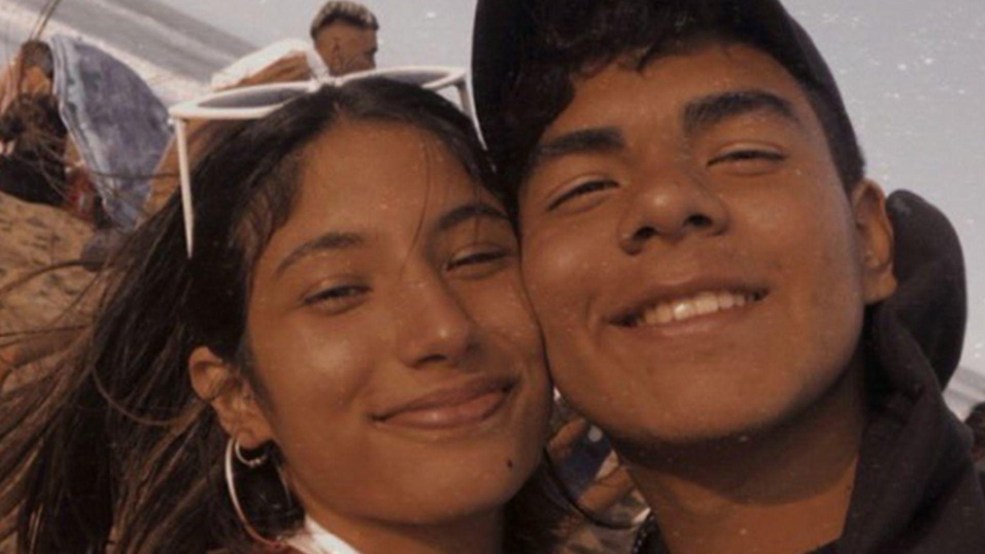"""""""Fer mi amor, feliz mes. Voy a contar por los 2 para siempre"""", escribió Julieta el pasado 19 de enero en sus redes sociales. Al posteo le agregó esta imagen con Fernando en la playa (Foto / Twitter @Julieta_Rossii)"""