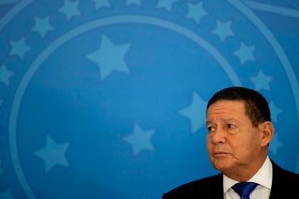En la imagen el vicepresidente de Brasil, Hamilton Mourao. EFE/Joédson Alves/Archivo