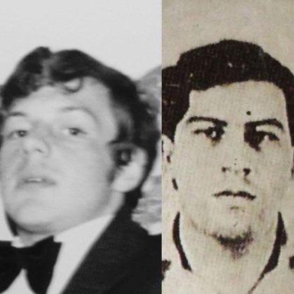 Roberto Sendoya Escobar sería el nombre real de Phillip. Aquí en una foto de su juventud al lado de una foto de joven de su presunto padre biológico, Pablo Escobar.