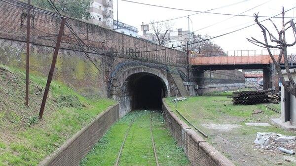 Uno de los ingresos al túnel, en el barrio de Once (Gentileza Ministerio de Transporte)
