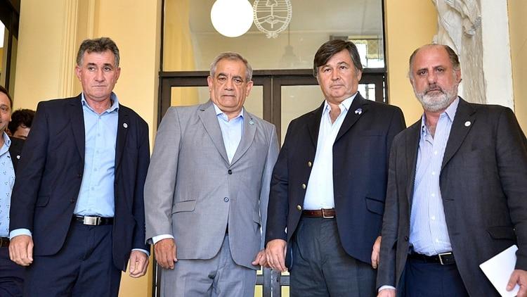 Los dirigentes del campo que integran la Mesa de Enlace (Gustavo Gavotti)