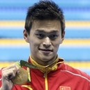 Mandatory Credit: Photo by Marcos De Paula/Agif/Shutterstock (5825157w) The Chinese swimmer Yang Sun , wins the final of the 200m free male competition, and winning the gold medal at the Water Park, in Barra da Tijuca. Rio 2016 Olympic Games, Swimming, Olympic Aquatics Stadium, Brazil - 09Aug 2016