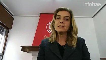Elías de Perez tuvo un encendido discurso