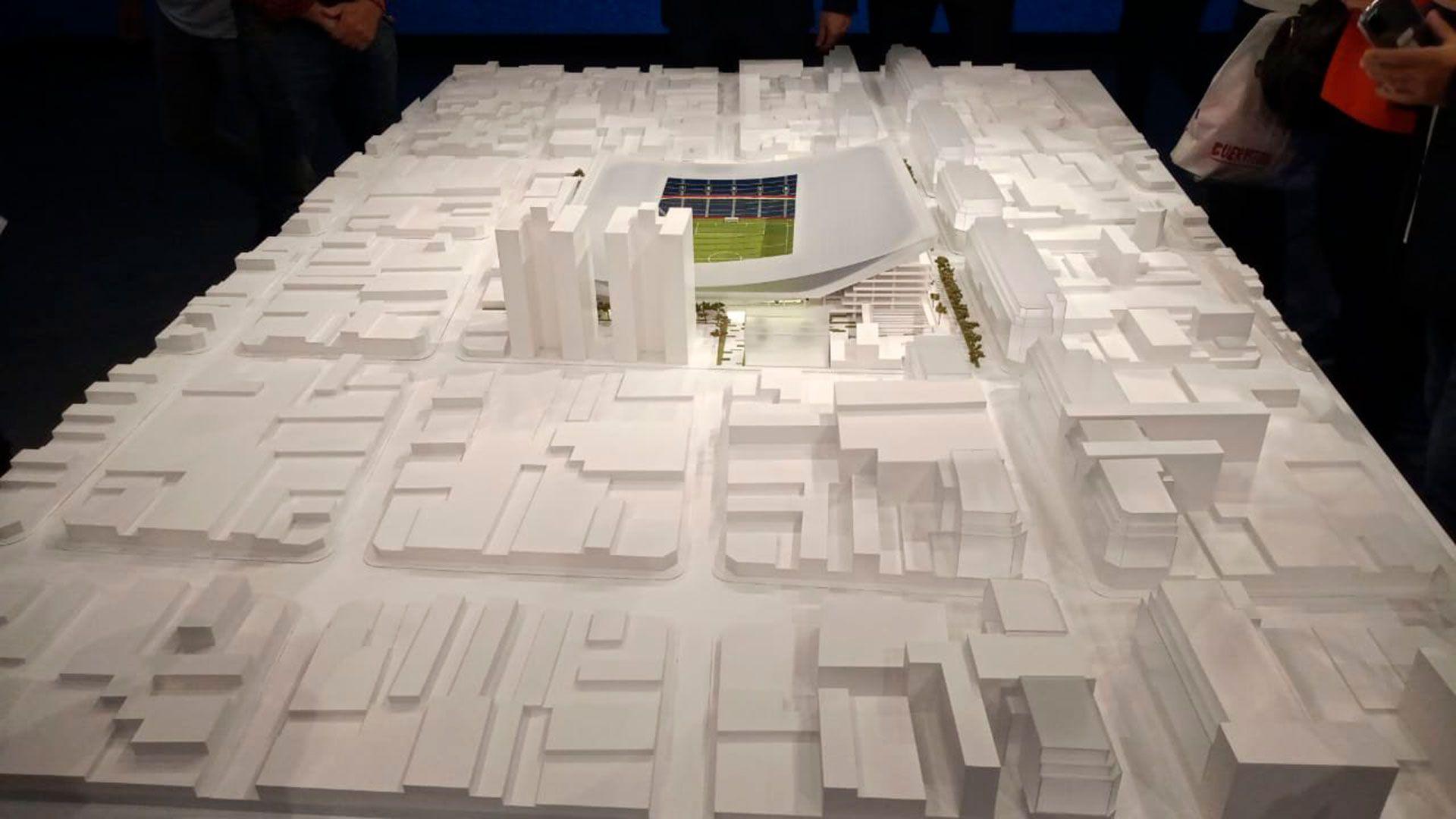 presentación de la maqueta del nuevo estadio de San Lorenzo en Boedo