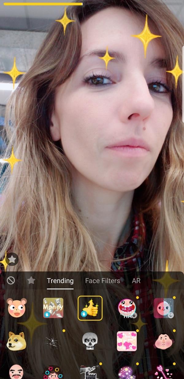 La red social ofrece diferentes filtros, stickers y máscaras