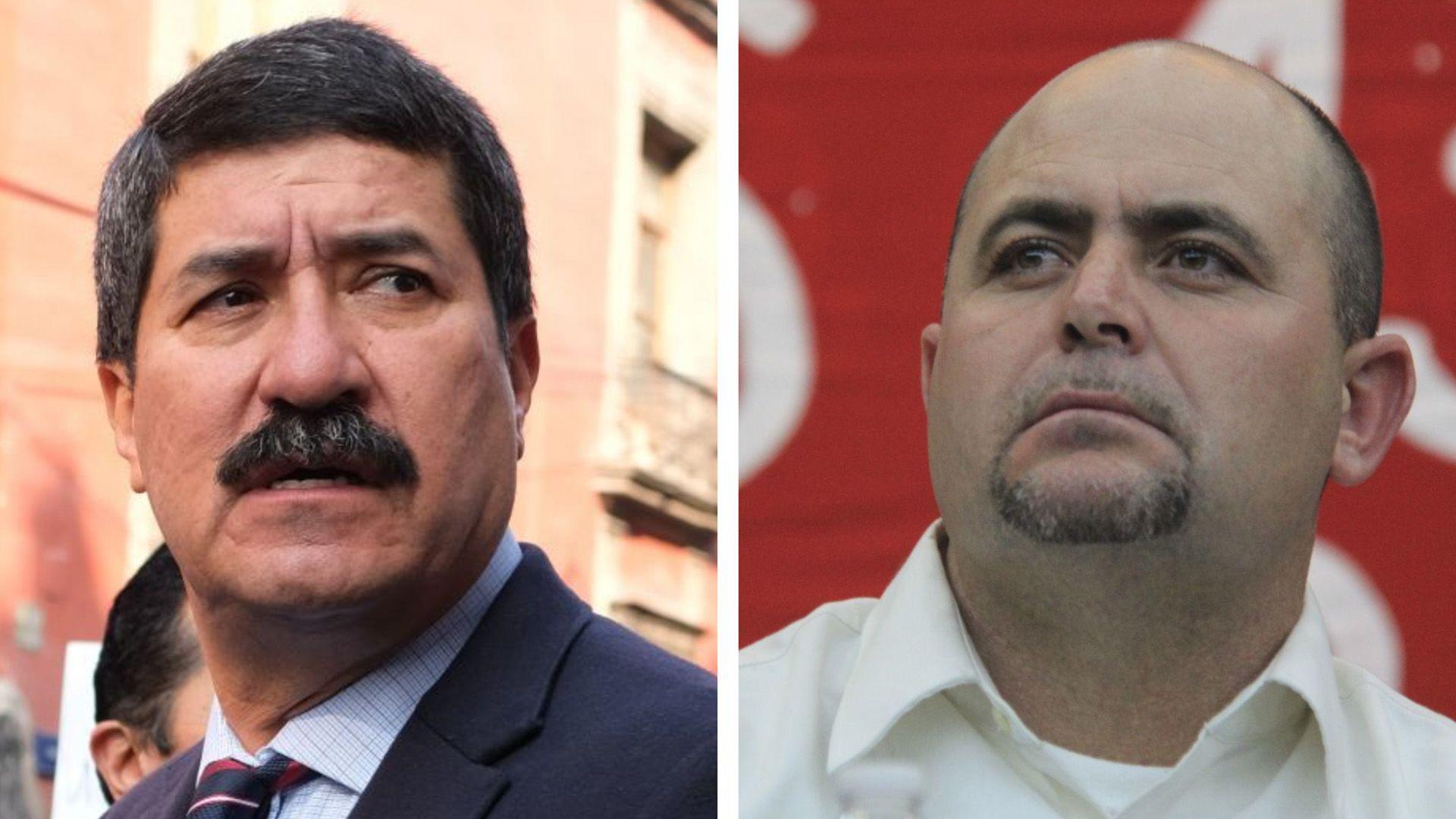 Julián Lebarón y Javier Corral (Foto: Cuartoscuro)