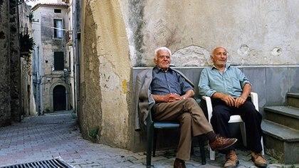 Dos abuelos, en la zona azul de Italia