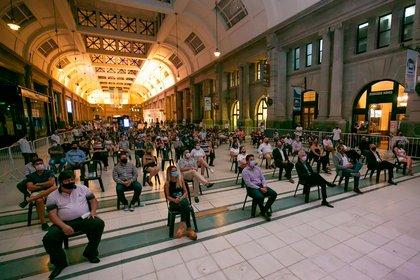 """""""enTRENtenerte"""", el ciclo que acerca los artistas a las estaciones de trenes (Foto: Ministerio de Transporte de la Nación)"""