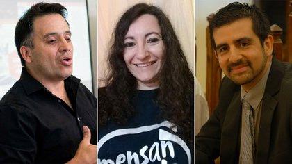 Tres de los 350 miembros que tiene Mensa en Argentina