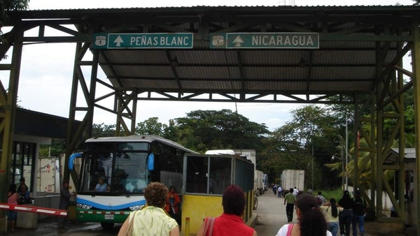 La frontera entre Nicaragua y Costa Rica (La Prensa)