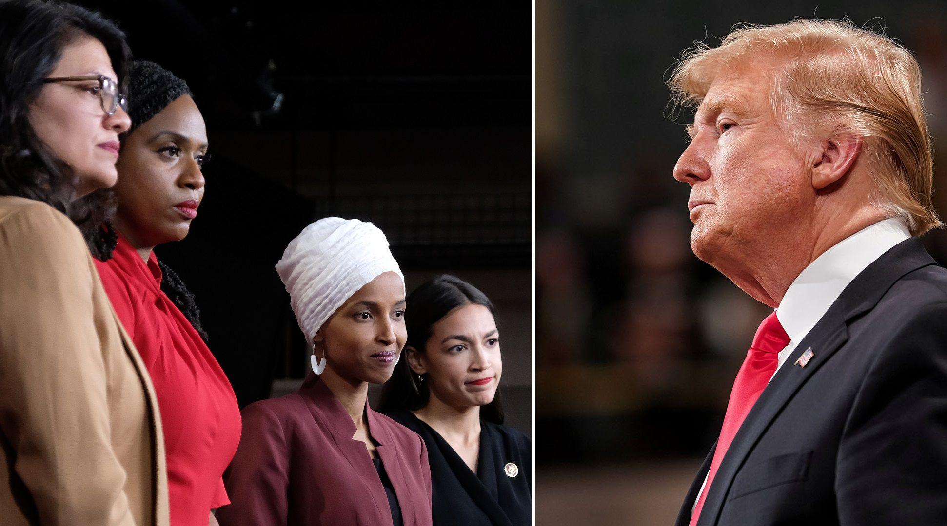 Cuatro congresistas del ala izquierdista del Partido Republicano son el principal blanco de las críticas del presidente (AFP/Reuters)