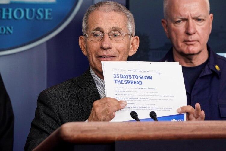 Fauci durante una conferencia de prensa en la Casa Blanca (Foto: REUTERS/Joshua Roberts)