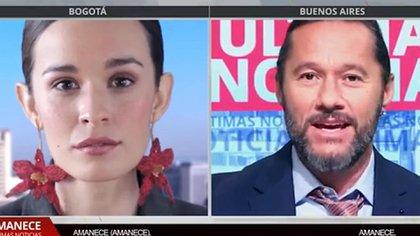 """Catalina García y Diego Torres, en una escena del video de """"Amanece"""""""