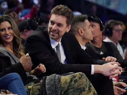 FILE PHOTO: Feb 14, 2020; Chicago, Illinois, USA; Pau Gasol in attendance during the NBA Rising Stars basketball game at United Center. Mandatory Credit: Kyle Terada-USA TODAY Sports