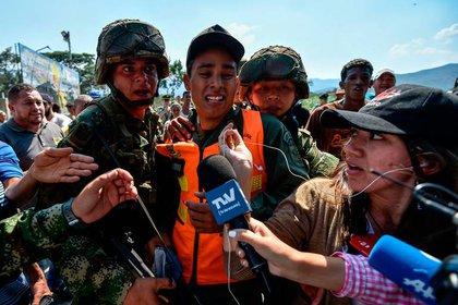 Militares que pasaron a Cúcuta el 23 de febrero de 2019 y reconocieron al gobierno interino