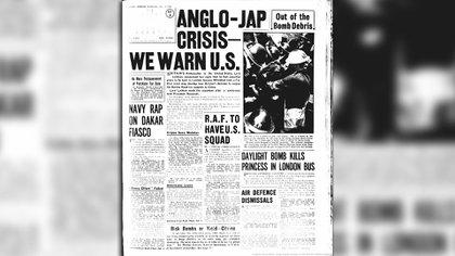 El 9 de octubre de 1940 los diarios daban cuenta de los conflictos bélicos.