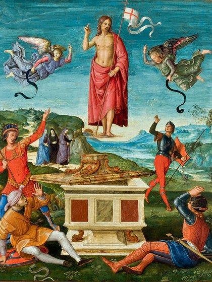 La resurrección de Cristo de Rafael Sanzio. Museo de Arte de  San Pablo