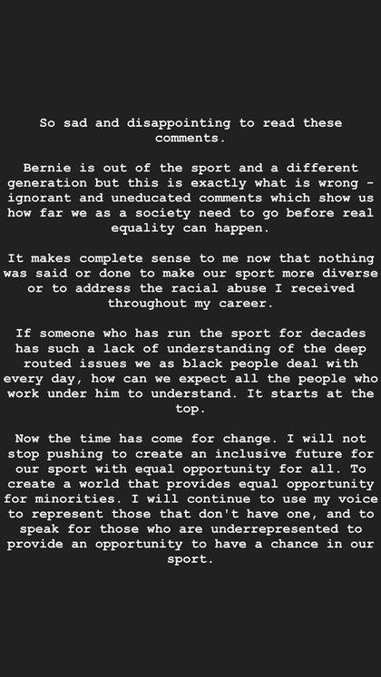 El mensaje de Lewis Hamilton en su cuenta de Instagram