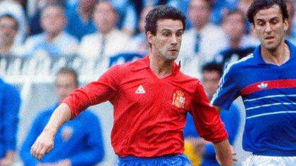 El lateral, con la casaca de la selección española, a la que representó 34 veces (Grosby Group)