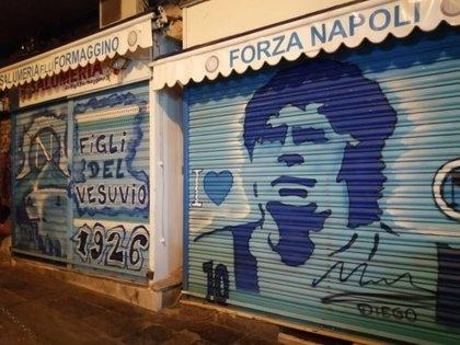 Maradona es considerado un Dios en Napoles