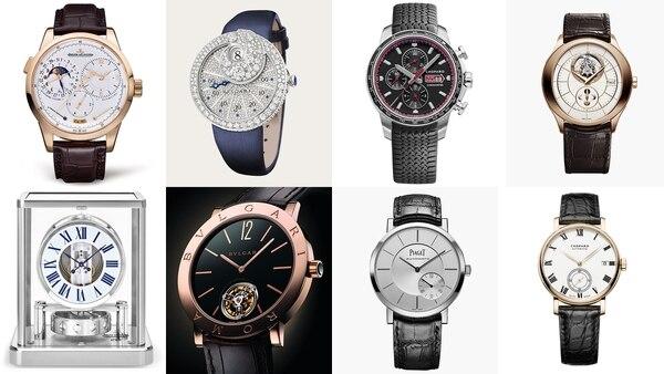 Algunas de los relojes que se venden en la joyería del Conrad