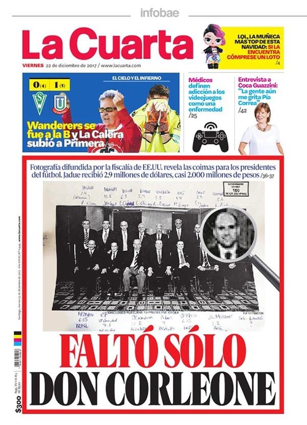 La Cuarta, Chile, Viernes 22 de Diciembre de 2017 - Infobae