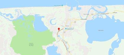 El catamarán viajaba sobre Río Seco, que desemboca en el Golfo de México, cuando fue atacado por los asaltantes (Foto: Google Maps)