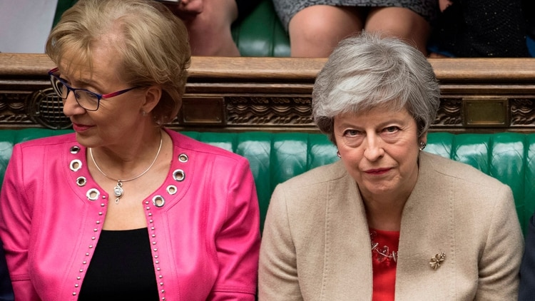 Andrea Leadsom junto a Theresa May (Reuters)