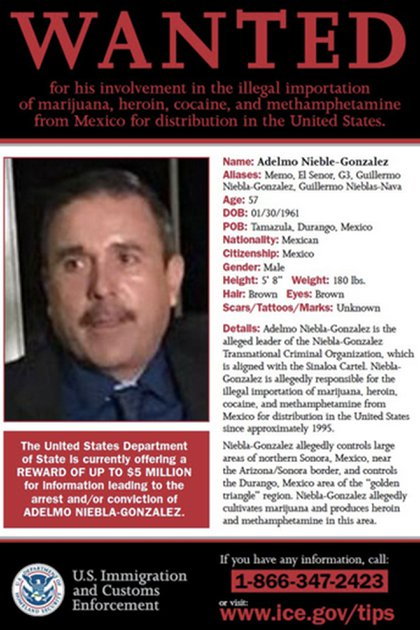 """Adelmo Niebla, detenido la semana pasada, es líder de la célula de """"Los Memos""""."""