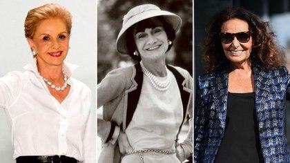 Carolina Herrera, Coco Chanel y Diane von Fustenberg, tres íconos en la moda mundial