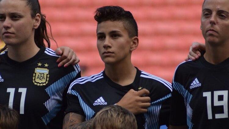 La joven de 20 años, durante la gira que la selección argentina realizó por Australia, a principios de 2019 (@Argentina)