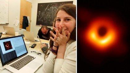La recién graduada es gran parte responsable de que el mundo haya conocido la foto de un agujero negro (Foto: Facebook Katie Bouman/ AFP)