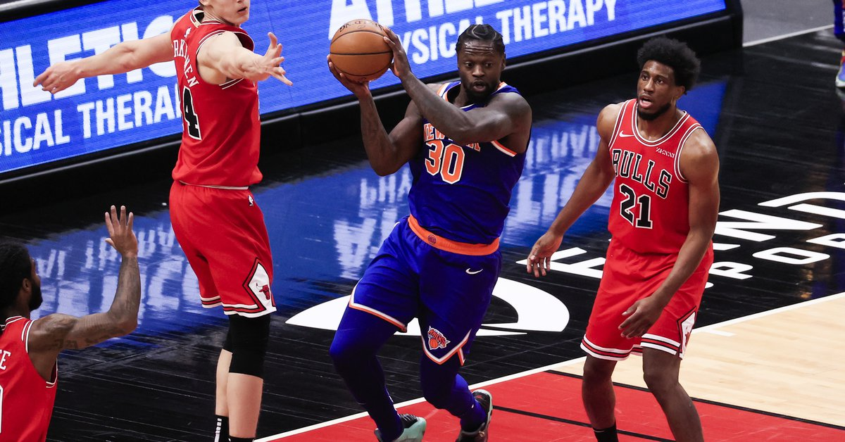 123-112.  Randle scores 44 points, Knicks win third straight