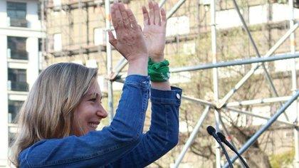 Militantes y referentes del movimiento feminista impulsaron el corte de boleta para que Myriam Bregman (FIT-Unidad) llegara con su voto a favor del aborto legal al Congreso