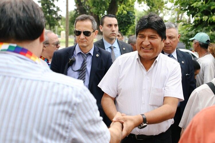 Evo Morales, durante una actividad pública en Buenos Aires