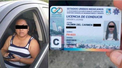 La regidora morenista presentó una tarjeta de circulación vencida  (Foto: TVQRoo)