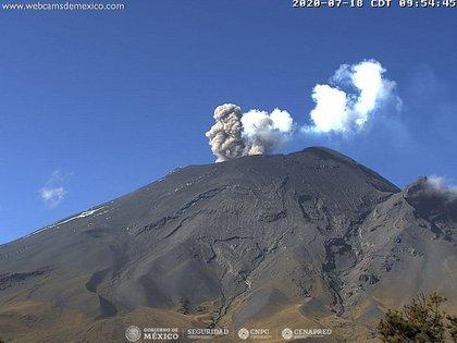 El volcán Popocatépetl registró intensa actividad en las últimas 24 horas (Foto: Cenapred)