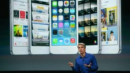 Craig Federighi, vicepresidente de Software, dio detalles sobre iOS 7 AFP 162