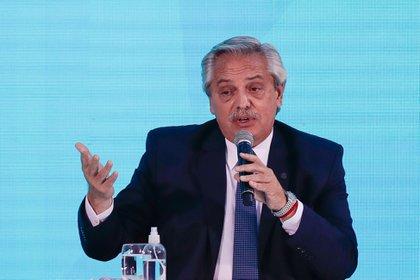En la imagen, el presidente de Argentina, Alberto Fernández. EFE/Juan Ignacio Roncoroni