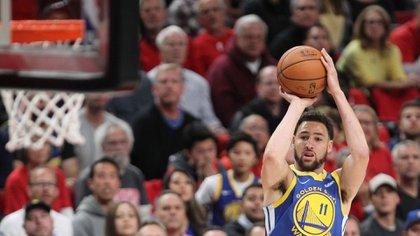 Klay Thompson fue otro de los jugadores importantes en la serie ante los Trail Blazers (Reuters)